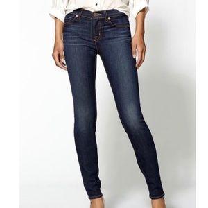 J Brand skinny leg dark vintage midrise jeans